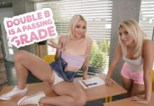 18VR - Double B Is A Passing Grade - Marilyn Sugar & Lilly Bella VR Porn