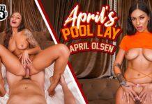 WankzVR - Aprils Pool Lay - April Olsen VRPorn